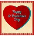 Vintage Valentines Day background vector image