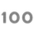 100 text halftone icon vector image vector image