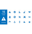 15 warning icons vector image vector image