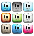 A button with the chemical element Indium vector image vector image