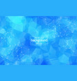 abstract blue polygonal space background with vector image