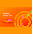 abstract circle shape composition landing page vector image