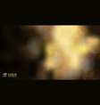 abstract shiny defocused gold bokeh lights on vector image vector image