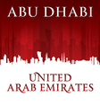 Abu Dhabi UAE city skyline silhouette vector image vector image