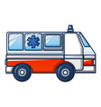 ambulance truck icon cartoon style vector image vector image
