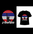 america typography t shirt with liberty icon vector image vector image