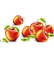 apples watercolor colorful fruits background vector image vector image