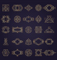 Art deco elements geometrical linear shapes for