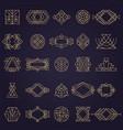 art deco elements geometrical linear shapes vector image