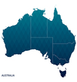 Australia map vector image