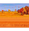 Autumn nature landscape with forest and field vector image vector image