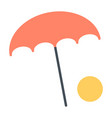 beach umbrella with ball icon minimal pictogram vector image