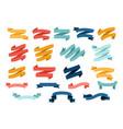 big set different flat ribbons vector image vector image