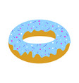 blue donut vector image vector image