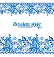 Blue floral borders in Russian gzhel style vector image vector image