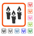 candles framed icon vector image vector image