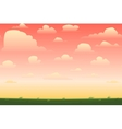 cartoon nature seamless horizontal landscape vector image vector image