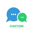 chat logo vector image