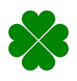 Clover with four leaves icon vector image vector image