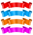 colored silk ribbons vector image