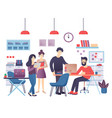 concept of the modern coworking center creative vector image