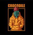 crocodile fashion vector image