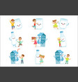 cute little children having fun and playing with vector image