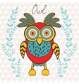 Cute owl character vector image vector image