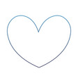 degraded line cute heart style and love symbol vector image vector image