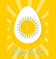 easter egg isolated decoration on yellow sunny vector image vector image