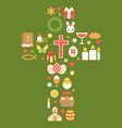 easter symbolic arrange as cross vector image
