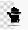 education hand learn learning ruler glyph icon on vector image vector image