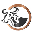 Farm cow logo vector image