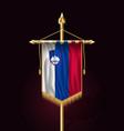 flag of slovenia festive vertical banner wall vector image
