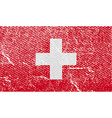 Flag of Switzerland with old texture vector image vector image