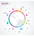Flat design concept for social network vector image vector image
