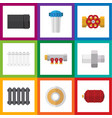 flat icon industry set of tube pipework water vector image