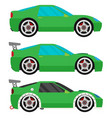 flat racing car set eps 10 vector image vector image