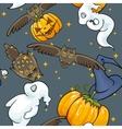 Halloween seamless texture vector image