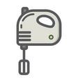 hand mixer colorful line icon household vector image vector image