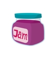Jar of fruity jam icon cartoon style vector image