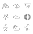 Kinds of weather icons set outline style vector image vector image