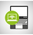 laptop technology wifi internet icon vector image vector image