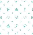 lightning icons pattern seamless white background vector image vector image