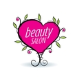 logo beauty salon vector image vector image
