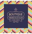 logo for boutique clothing accessories vector image vector image