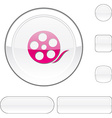 Media white button vector image