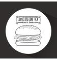 menu delicious food design vector image