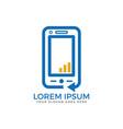 mobile phone logo design vector image