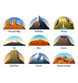 mountains peaks landscape early in a daylight vector image